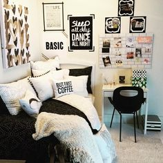 Black, White, Repeat To spice up college dorm and even your room at home!!☕☕