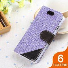 Cloth Pattern Leather Flip Case for iPhone 6: $10.99