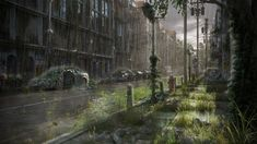 image of the Day is 'Post Apocalyptic Street' by Antonio Figueiredo, who was inspired after playing 'The Last of Us'! Apocalypse Now, Apocalypse Aesthetic, Apocalypse Landscape, Zombies, Post Apocalyptic City, Gato Anime, Futuristic City, Cyberpunk, Imagines
