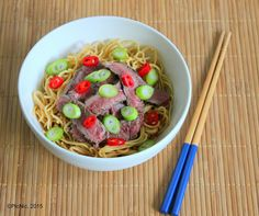 Chili and Garlic Beef Noodles