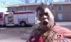 Lady in m&m jacket gives hilarious account of fire to news reporter