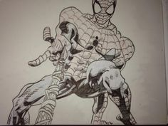 A drowning of Spider Man I did at home for fun
