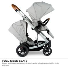 Buy Redsbaby JIVE Tandem stroller with bassinet and second seat (in Mist). It accommodates newborns to toddlers and is designed for style savvy parents.