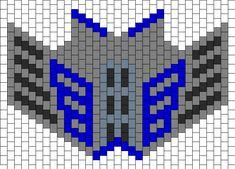 Optimus Prime Mask Bead Pattern