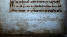 Scholars in Wales have discovered that parts of one of the most important books in Welsh history was erased and some of the texts on its animal-skin pages overwritten. The book is titled The Black Boo