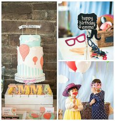 Up, up, and away! This hot air balloon party is just precious! From the darling cake to the the cute stationery, this party is sure to impress!