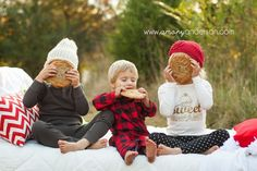 Jazzy in the middle with milk scar finn with cookies Christmas Cookies Pajamas Family Session Concord NC Holiday Mini Session, Christmas Mini Sessions, Family Christmas Cards, Christmas Minis, Christmas Pajamas, Christmas Cookies, Christmas Trees, Christmas Crafts, Christmas Decorations