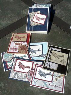 Airplane stamp set