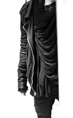 drape mens fashion , jacket scarf