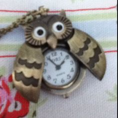 Owl pocket watch :) Thats so sweet and cute:)