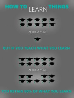 You keep 90% of what you learn if you teach that.