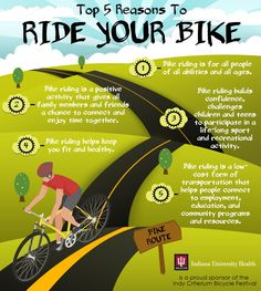 Top 5 Reasons to Ride Your Bike