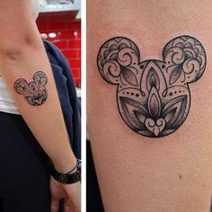 You'll be wishing upon a star that you had one of these beautiful Disney tattoos.