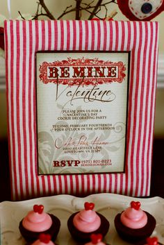 Valentine's Day party Invitation #Valentine's #party #cookie