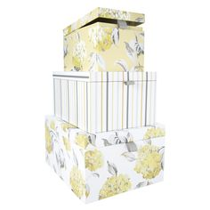 Hydrangea Set Of 3 Storage Boxes at Laura Ashley Spare Room Storage Ideas, Yellow Gray Bedroom, New Home Wishes, Laura Ashley, Hobby Room, Childrens Room Decor, New Living Room, Storage Boxes, My Room