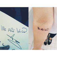 Pete Wentz handwriting
