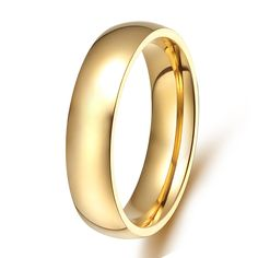 >> Click to Buy << Top quality classic Europe western design gold color style titanium steel wedding bands promise rings for men #Affiliate