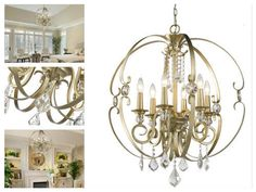 Hanging-Candle-Chandelier-Lighting-Lamps-6-Light-Modern-Globe-Crystal-Ceiling