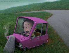 Green hills of Ireland by Raphael Grosjean, via Behance Prop Design, Game Design, Set Design, Character Design References, 3d Character, Weird Cars, Car Painting, Cute Characters, Cute Art