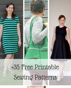 +35 Free Printable Sewing Patterns | We've just updated our printable sewing patterns page with brand new projects!