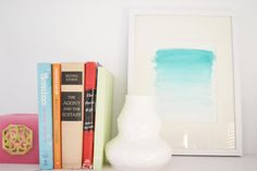Aqua Ombre Watercolor Print by PureJoyPaperie on Etsy, $18.00