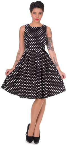 71a95dbded842c Lola Stylish 50's Retro Swing Dress in Black