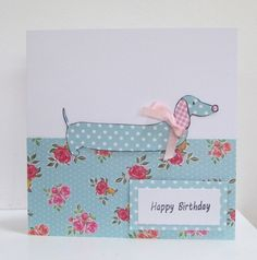 Dotty Daschund Birthday Card £2.75