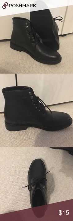 Perry Ellis Portfolio boot Nice black boot for fall and winter. Comfortable and warm and very stylish. Leather on all upper. Perry Ellis Shoes Boots