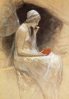 ≍ Nature's Fairy Nymphs ≍ magical elves, sprites, pixies and winged woodland faeries - Nikolaos Gyzis - Psyche Kunst Online, Illustration Art, Illustrations, Oeuvre D'art, Faeries, Love Art, Amazing Art, Dragons, Fantasy Art