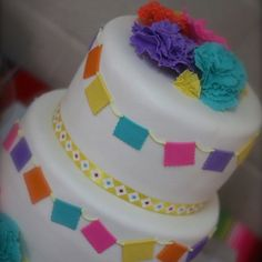 Fiesta Party Cake-would be great for son's birthday on cinco-de-mayo! Mexican Fiesta Birthday Party, Fiesta Theme Party, Mexican Party, Mexican Cakes, Birthday Cake Girls, 20th Birthday, Birthday Ideas, Fiesta Cake, Cinderella Birthday