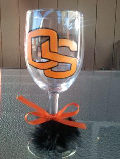 Oregon State Beavers wine glass