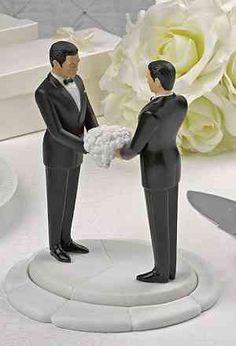 Ty Wilson Gay Interracial Interchangable Wedding Cakeside Figurines- More Races Available
