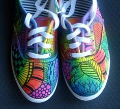 Zentangle sneakers shoes sneakers zentangle by ArtworksEclectic, $42.00