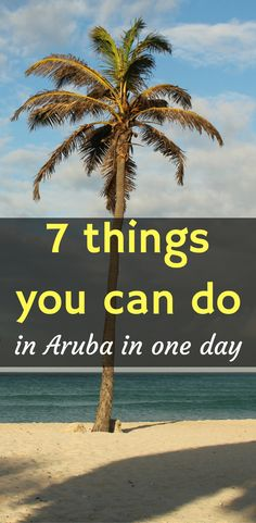 """Looking for things to do other than hang out at the beach? Read my """"one day in Aruba"""" itinerary for 7 things to do in Aruba. #onedayinaruba #thingstodoinaruba #whattodoinaruba #thingsyoucandoinaruba"""
