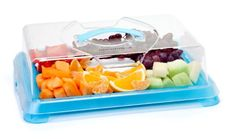 DAVID #TUTERA FOOD SERVERS -  $14.99 -- David Tutera's Cooler Color Food Servers offer a hassle-free solution to transport and serve your party snacks in style. Whether you're going to a small cocktail party or a large get-together, these Food Servers are perfect for keeping your crackers, meats and cheeses all in one convenient container!  Small Server Contents: Small base, small lid, 1 cool pack