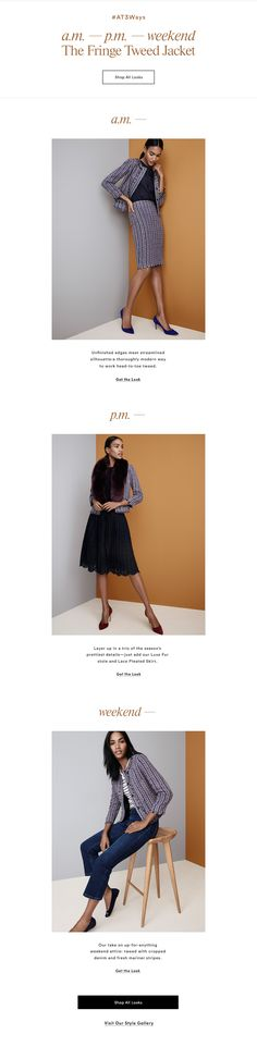 Ann Taylor offers high quality, chic women's clothing including women's suits, dresses, bridesmaid dresses, blouses, women's pants, sweaters, skirts, cashmere, denim, accessories, petites, tall sizes and more. Shop online or in one of over 300 stores.