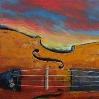 Violin - Sunset