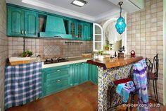 spanish blue kitchen - Căutare Google