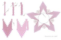 Here is a pattern for beautiful flower. It can b used for brooch, pendant  or as part of necklace