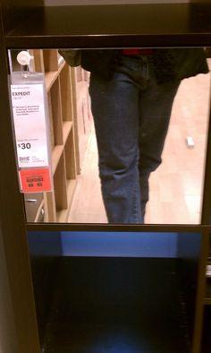 $30 Expedit Mirror Door Insert Ikea