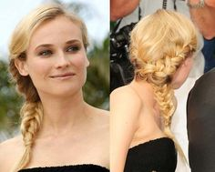Diane Kruger is a hair wizard. She always looks stunning, and check out that fishtail braid! Uk Hairstyles, Super Easy Hairstyles, Summer Hairstyles, Pretty Hairstyles, Braided Hairstyles, Wedding Hairstyles, Beach Braids, Summer Braids, Plaits