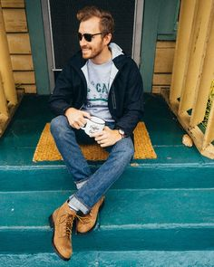 Men's Style :: Jacket: Tech Hooded Rain Jacket – Hawke & Co. – $55 Sweatshirt: Camp Woodstock – Mighty Fine – $13… The post January 20, 2016. appeared first on Stay Classic.