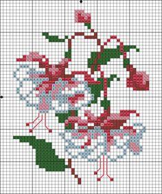 (1) Gallery.ru / Фото #1 - фуксия - irinika Cross Stitch Cards, Cross Stitch Borders, Cross Stitch Flowers, Cross Stitch Designs, Cross Stitching, Cross Stitch Embroidery, Hand Embroidery, Cross Stitch Patterns, Quilt Patterns