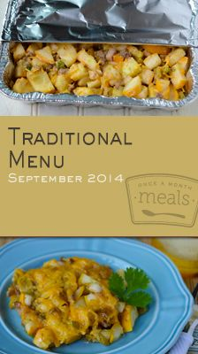 Traditional September 2014 Menu | Once A Month Meals