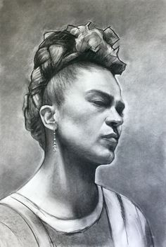 Charcoal on paper.