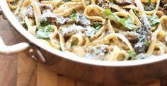 Au menu pour ce soir: Fettucine crémeuse aux champignons!