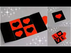 DIY - CARD WITH DISAPPEARING MESSAGE - TUTORIAL / SECRET MESSAGE CARD / VALENTINE'S DAY CARD IDEAS - YouTube