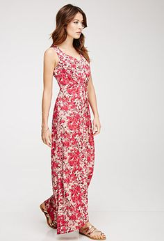Abstract Floral Print Maxi Dress   FOREVER21 - 2000082959