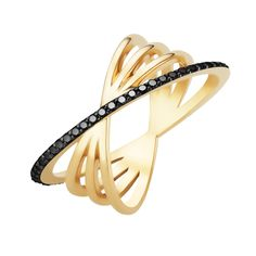 #MelissaKayeJewelry Veronica #ring in #18k yellow #gold with #diamonds #jewelry…