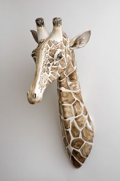 Giraffe by Katharine Morling Dimensions: 75 x 30 x 43 cm Materials: Earthstone, porcelain slip, porcelain and black stain Techniques: Hand building image by Stephen Brayne Pottery Animals, Ceramic Animals, Clay Animals, Ceramic Clay, Porcelain Ceramics, Fine Porcelain, Porcelain Black, Porcelain Skin, Porcelain Jewelry